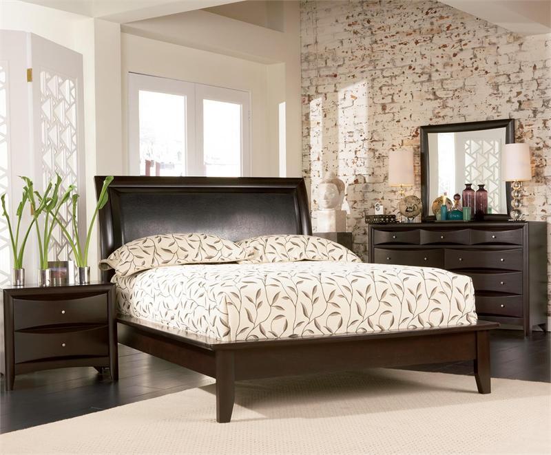 Bedroom Furniture Espresso espresso platform bedroom set - pheonix collection