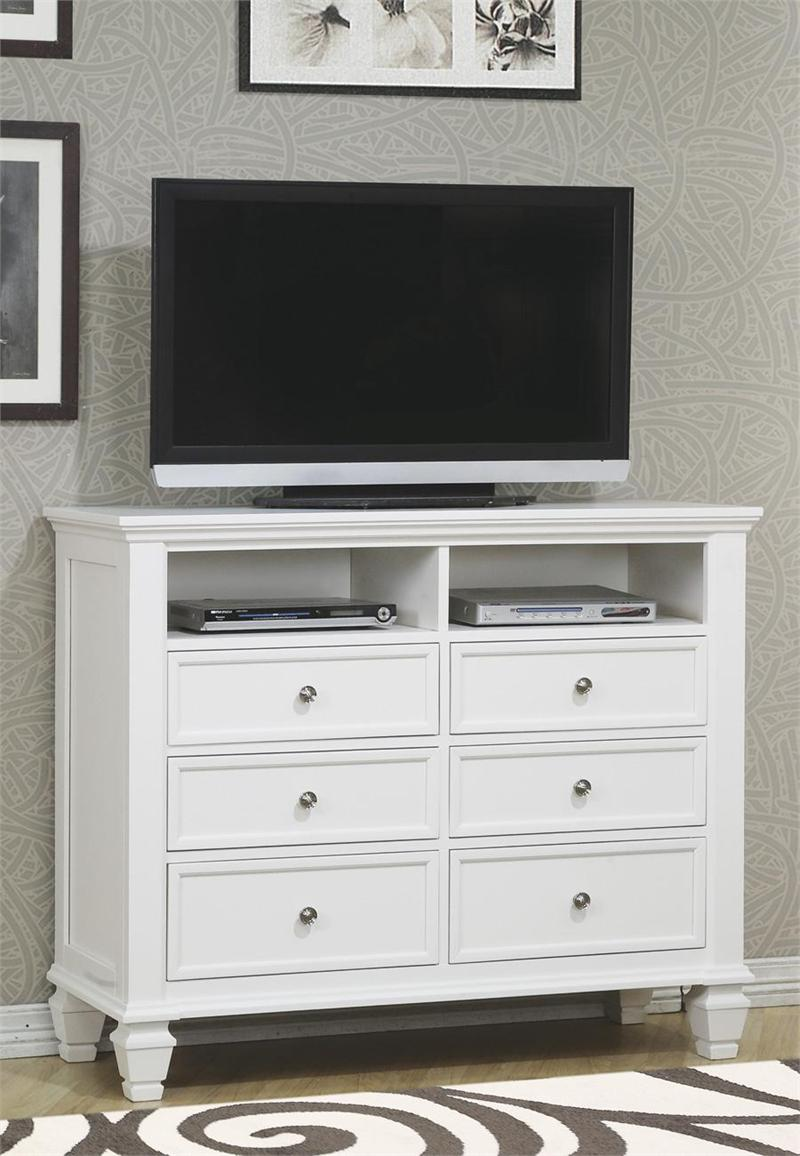 media chest sandy beach white bedroom collection item 201306 by