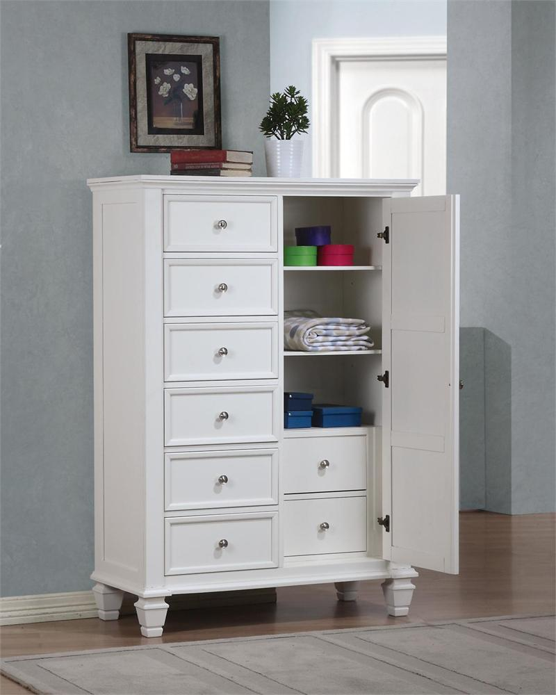 Door Chest Sandy Beach White Bedroom Collection. Sandy Beach White Storage Bedroom Collection