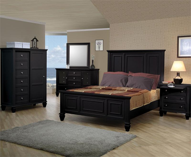 sandy beach black bedroom collection item 201321 by coaster