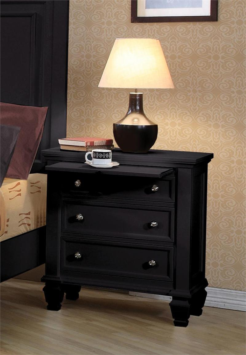 Sandy Beach Black Nightstand