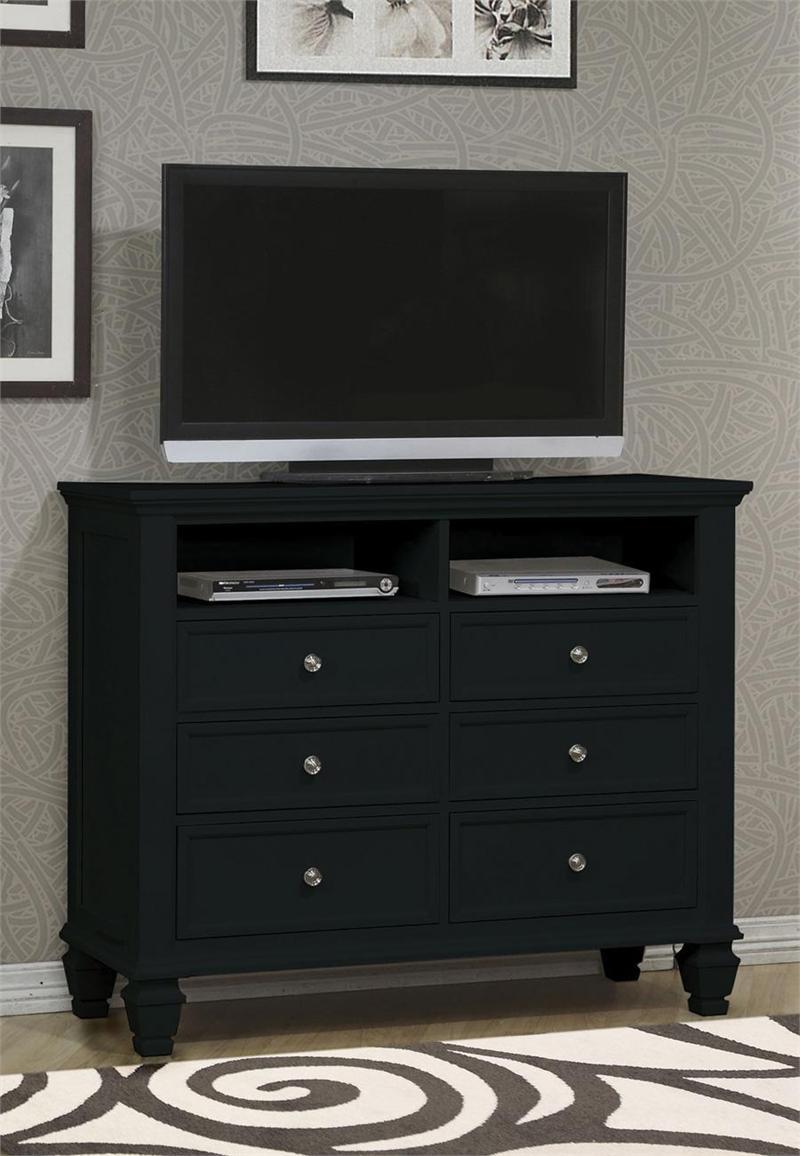 Sandy Beach Black Bedroom Collection