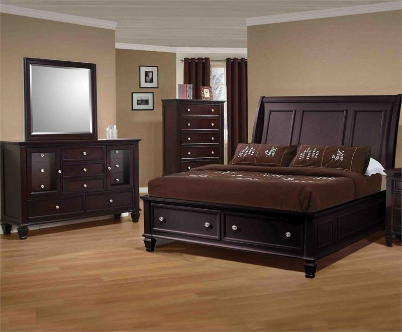 Bedroom Furniture Espresso sandy beach espresso storage bedroom collection