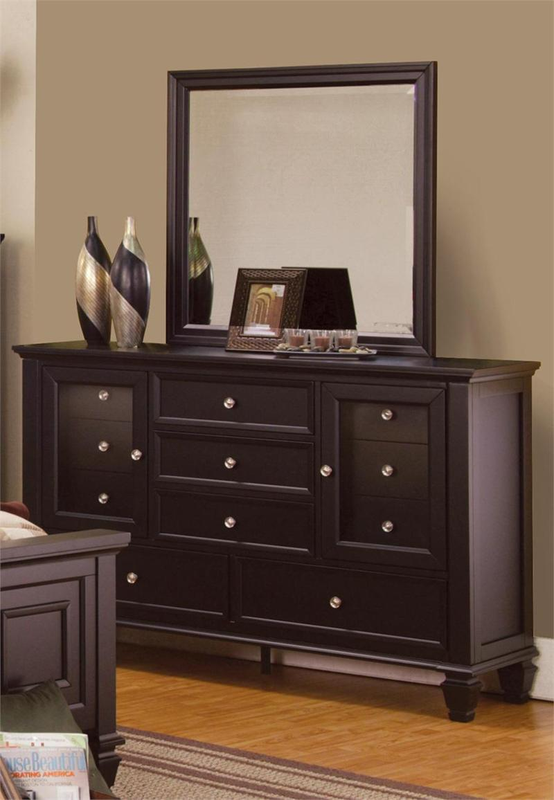 sandy beach espresso storage bedroom collection