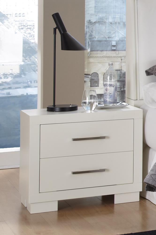 White Jessica Bedroom Set. Nightstand White Jessica Collection