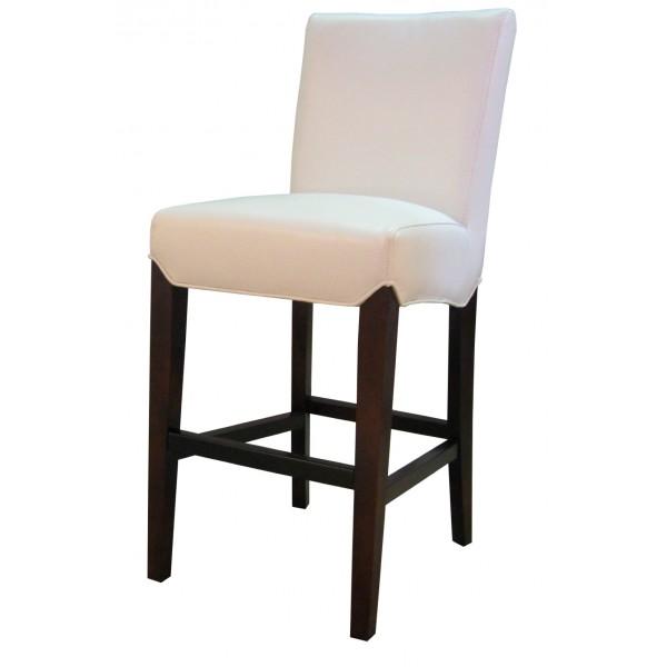 milton leather bar stool white color - White Leather Bar Stools
