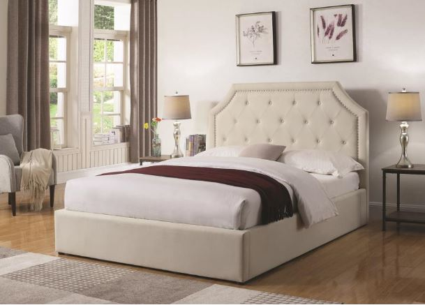 301469 coaster hermosa storage upholstered bed for Coaster furniture of america