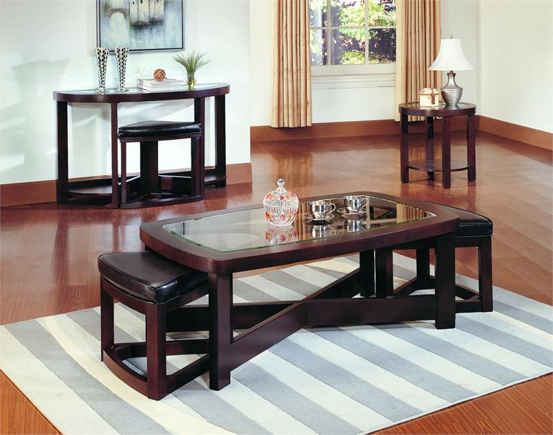 rectangular cocktail table with 2 ottoman brussel collection item 3219pu 30. Black Bedroom Furniture Sets. Home Design Ideas