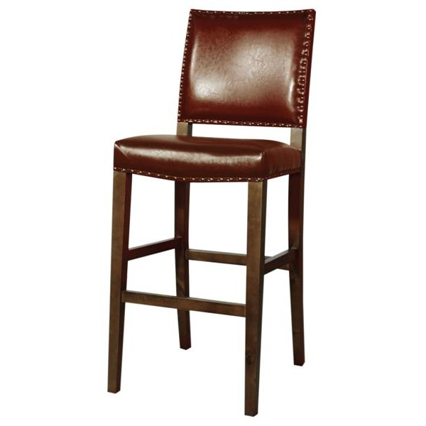 Counter Height Leather Bar Stools : rowan brown leather counter height stool rowan bar stool available in ...