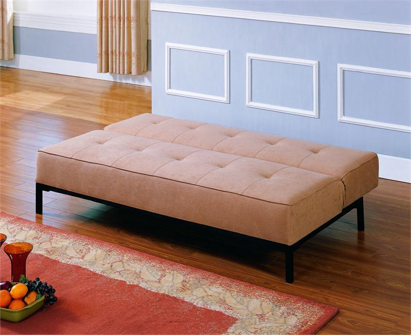 clickclack tan futon serene collection style open