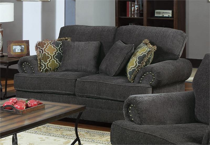 504401 Coaster Smokey Grey Sofa Set Colton Collection