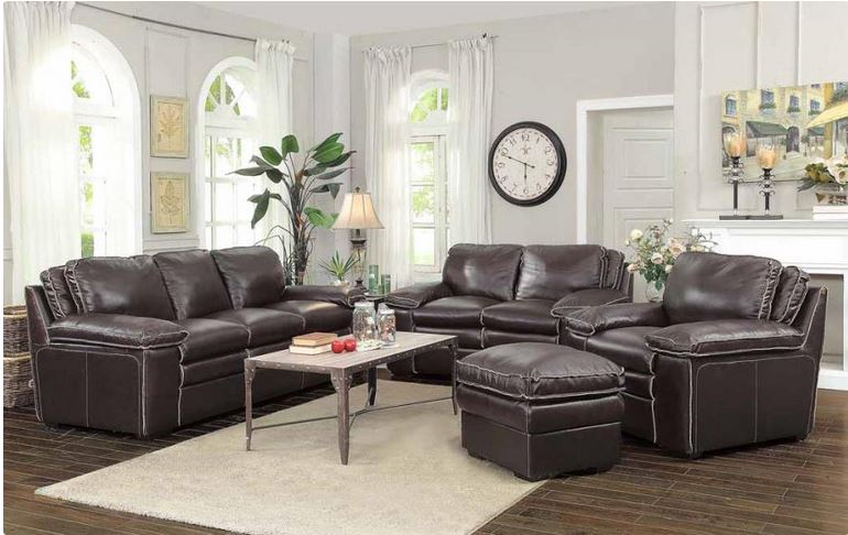 Regalvale Top Grain Leather Sofa Set Collection Coaster 505845