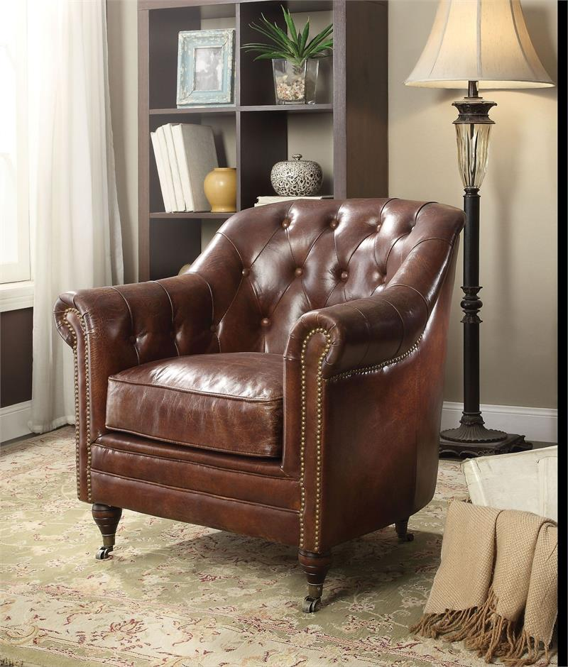 Leather Furniture Traveler Collection: Aberdeen Acme Top Grain Leather Sofa Collection