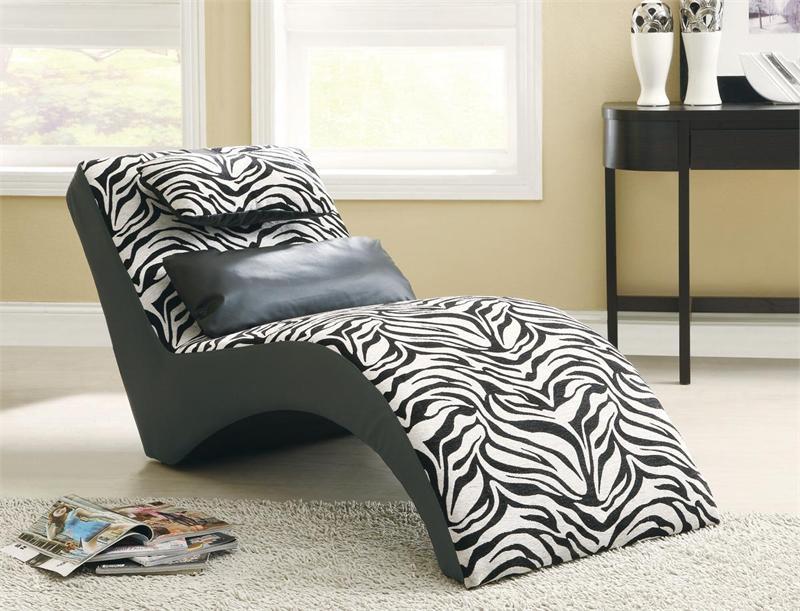 zebra print chaise. Black Bedroom Furniture Sets. Home Design Ideas