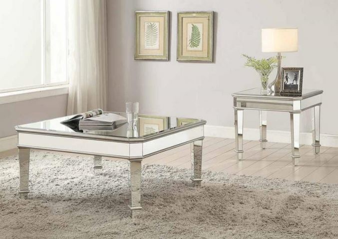arles mirrored coffee table collection