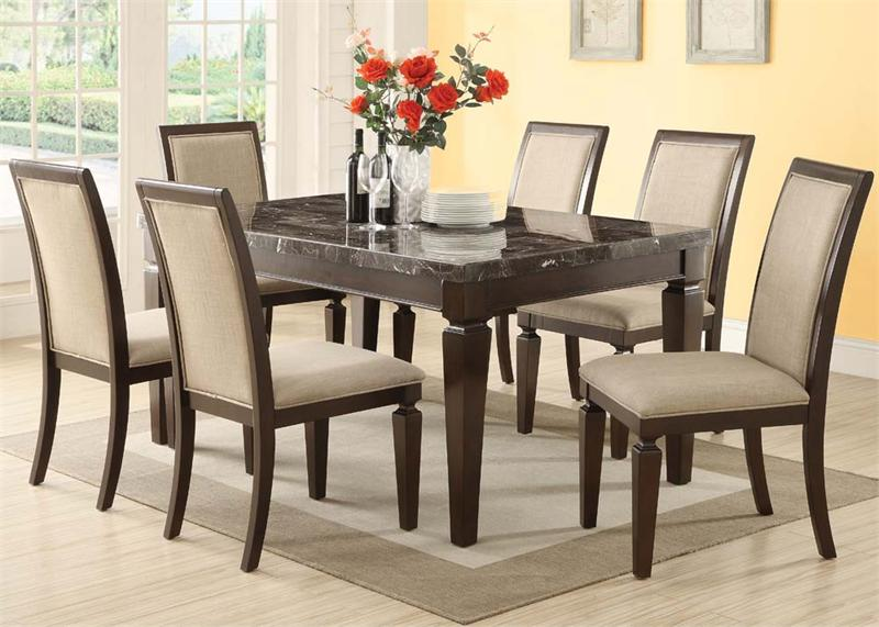Agatha Black Marble Top Dining Set : 70485SET from www.romdecor.com size 800 x 571 jpeg 66kB
