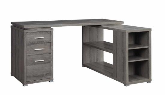 weathered grey office desk yvette collection coaster 800518