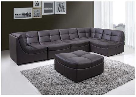 Cloud Brown Modular Sectional Sofa 9148