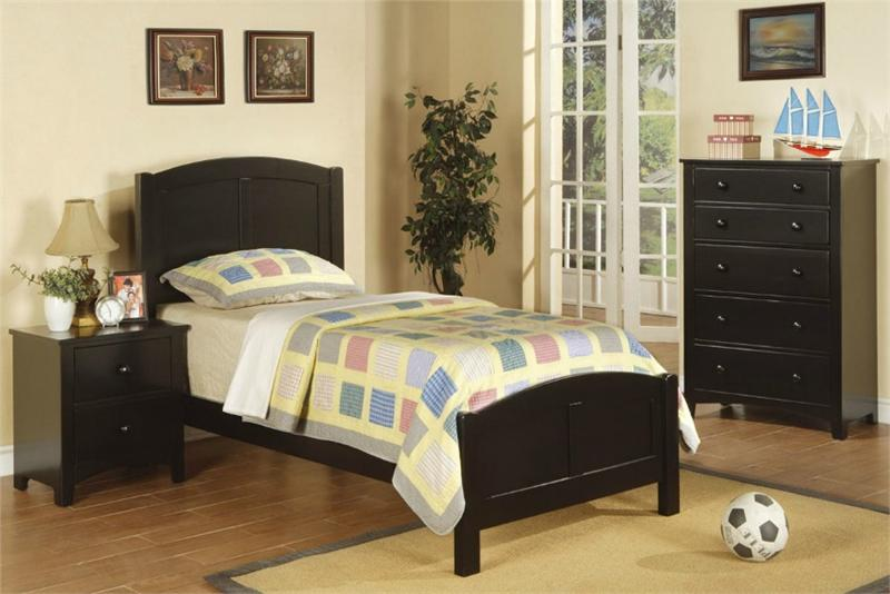black twin bedroom set f9208 f9208 poundex f4236 poundex f4237 poundex