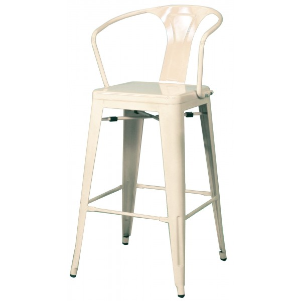 metropolis metal arm counter stool white color item 938526w - Metal Counter Stools