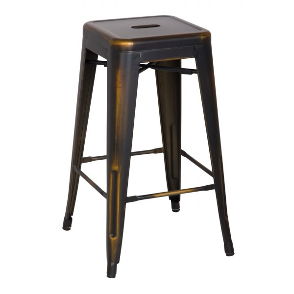 Distress metropolis metal bar stool - Chaise bar metal ...