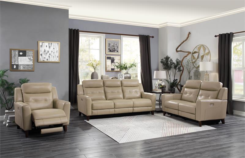 Wystan Top Grain Leather Power Recliner Collection
