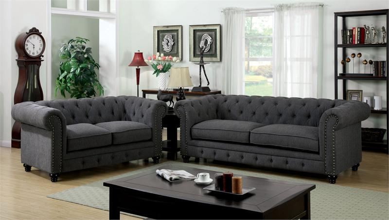 cm6269gy cm6269 furniture of america cm6269 sofa grey sofa gray sofa