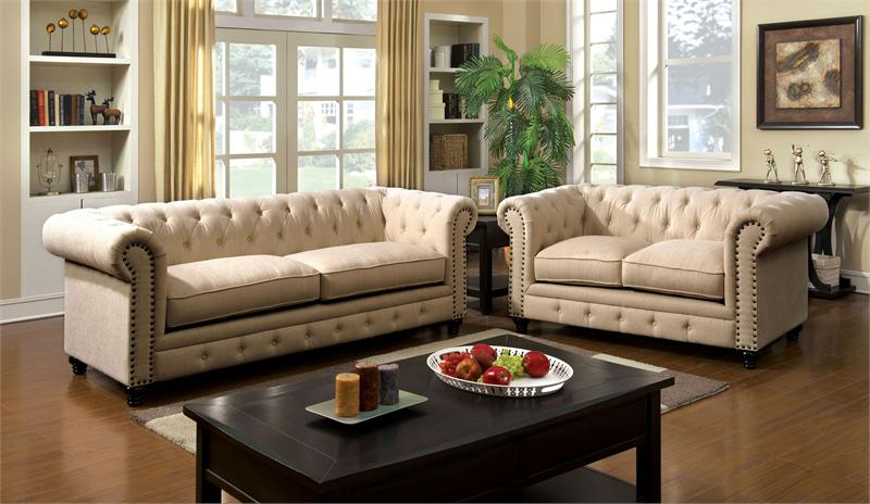 stanford ivory sofa collection cm6269iv. Black Bedroom Furniture Sets. Home Design Ideas