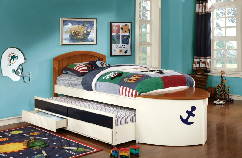 Voyager Boat Captain Bed With Trundle And 2 Drawers Cm7768