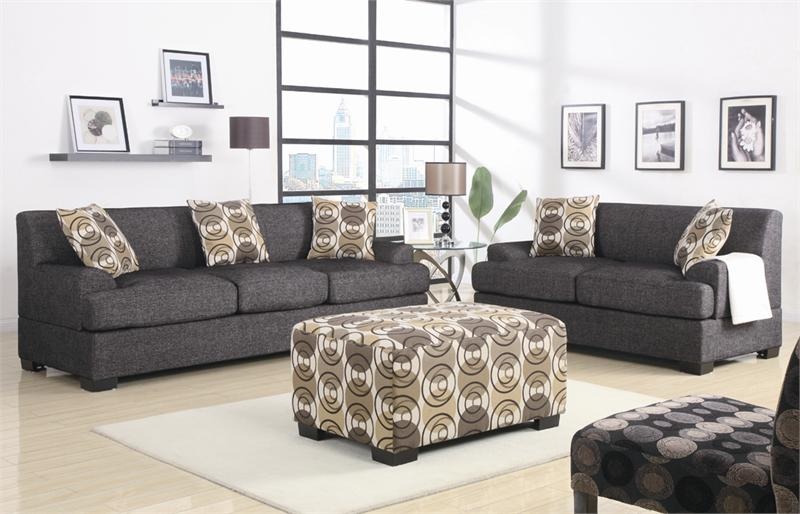 ash grey living room set item f7447