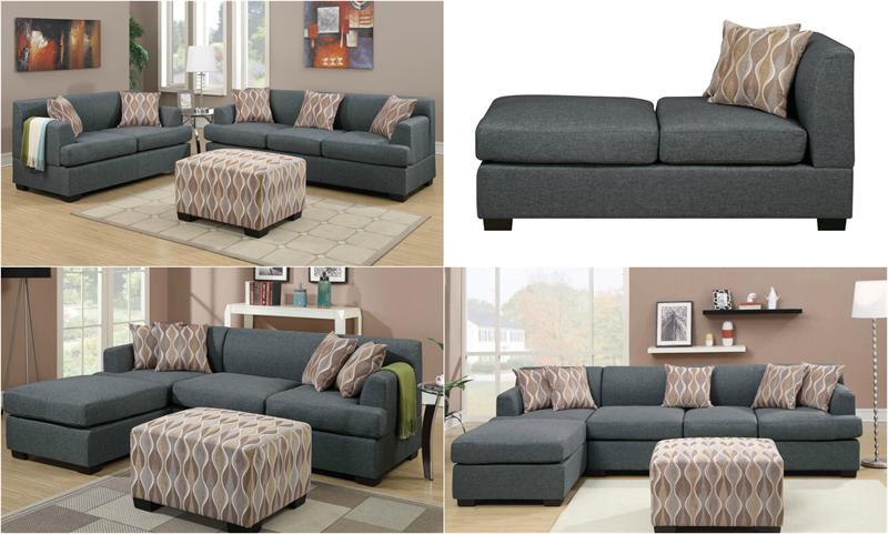 Blue Grey Living Room Set