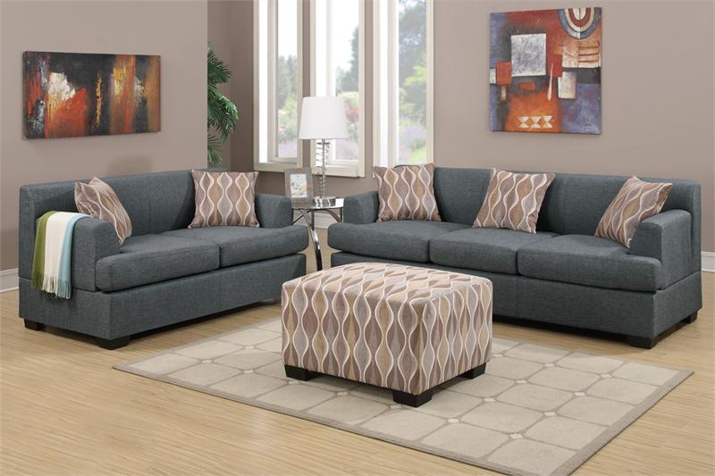 blue grey living room set item f7971