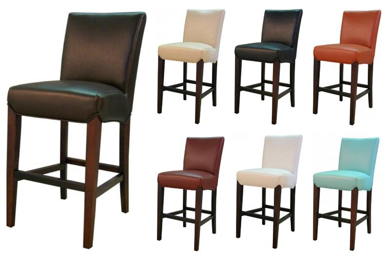 milton leather bar stool