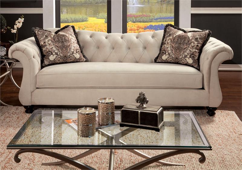 Antionette Sofa Set Ivory Sm2221