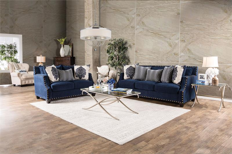cornelia navy sofa set sm3071. beautiful ideas. Home Design Ideas