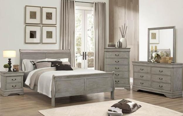 23860 Acme Louis Philippe Antique Gray Bedroom Collection