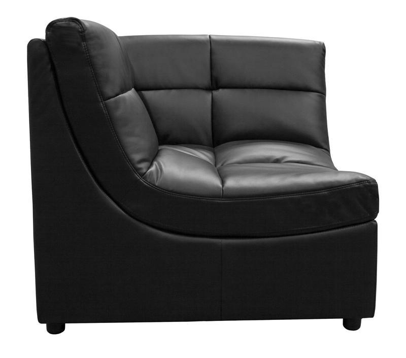 corner black modular sectional sofa