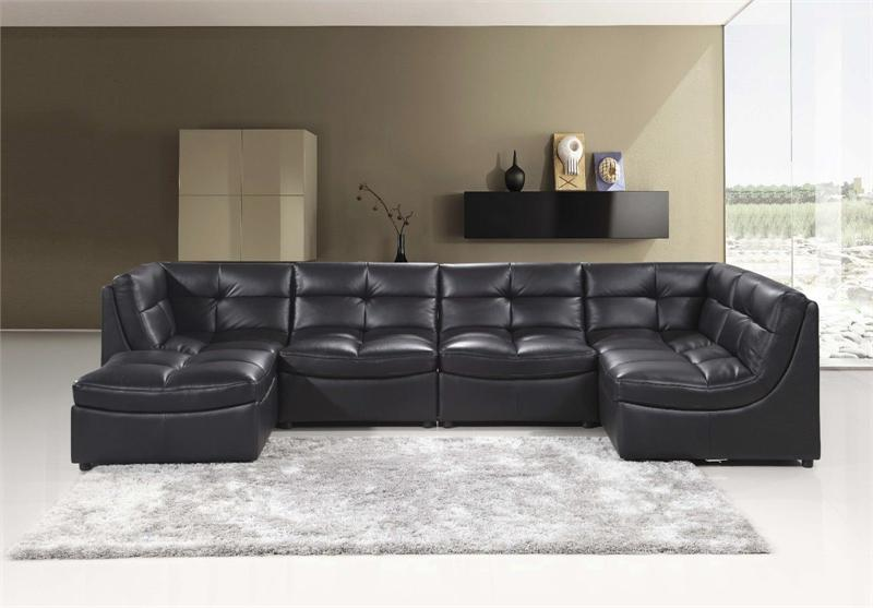 Black Modular Sectional Sofa 9148 Best Master