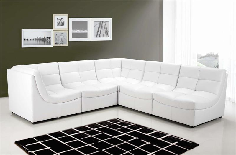 white modular sectional sofa