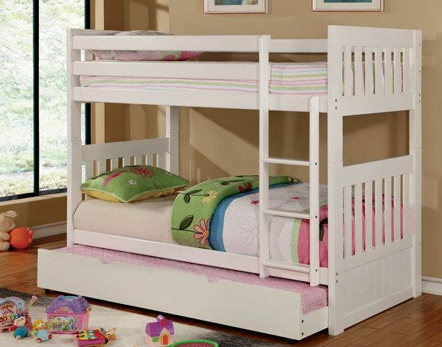 Cm Bk607 Canberra Ii White Bunk Bed