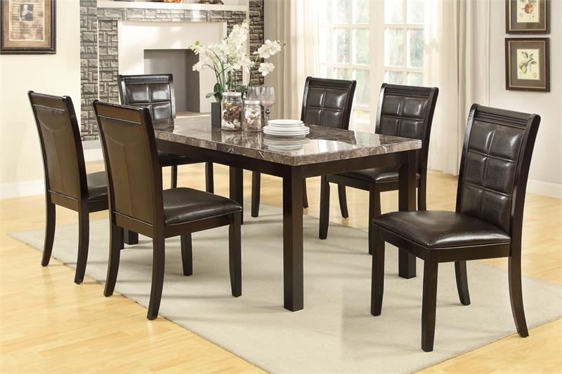 Real Marble Dining Set Poundex F2295