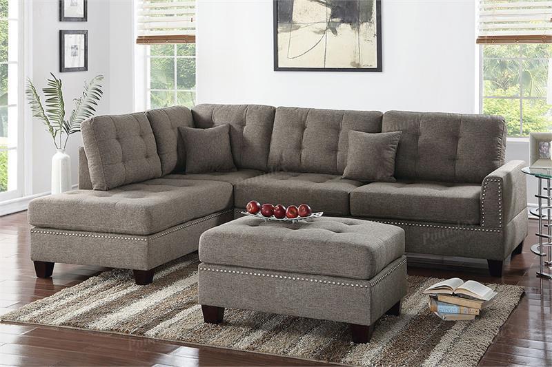 F6504 Poundex Sectional Sofa Reversible