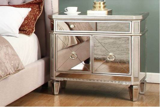 nightstand pascual mirrored