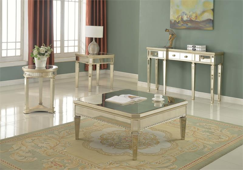 Borghese Mirror Coffee Table Set T1830 - Mirror Coffee Table Set T1830