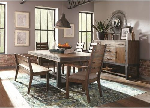 Atwater Industrial Dining Set,107721 coaster,scott living dining
