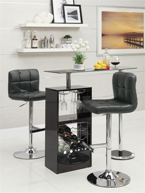 Black Revolving Bar Table Item #120451&