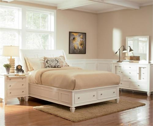 Sandy Beach White Storage Bedroom Collection