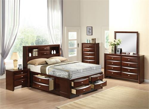 Ireland Espresso Storage Bedroom Set  by Acme