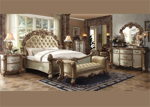 Vendome Gold Bedroom Collection Acme 23000,23000 acme