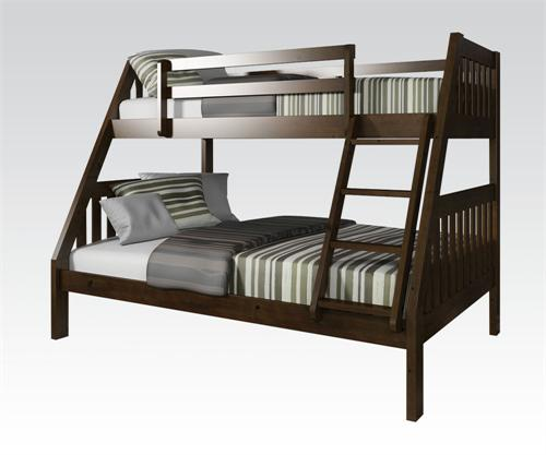 Espresso Twin Bunk Beds ~ Espresso twin full bunk bed